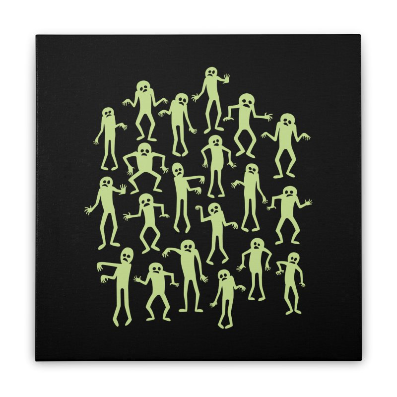 Zombie Dance Home Stretched Canvas by doodledojo's Artist Shop