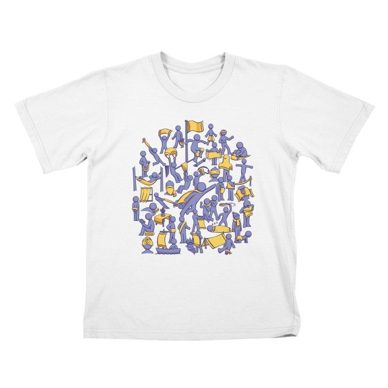 42 Uses for Towels Kids T-shirt by doodledojo's Artist Shop