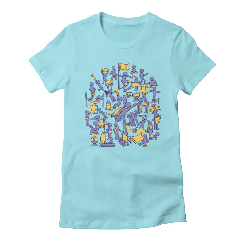 42 Uses for Towels Women's Fitted T-Shirt by doodledojo's Artist Shop