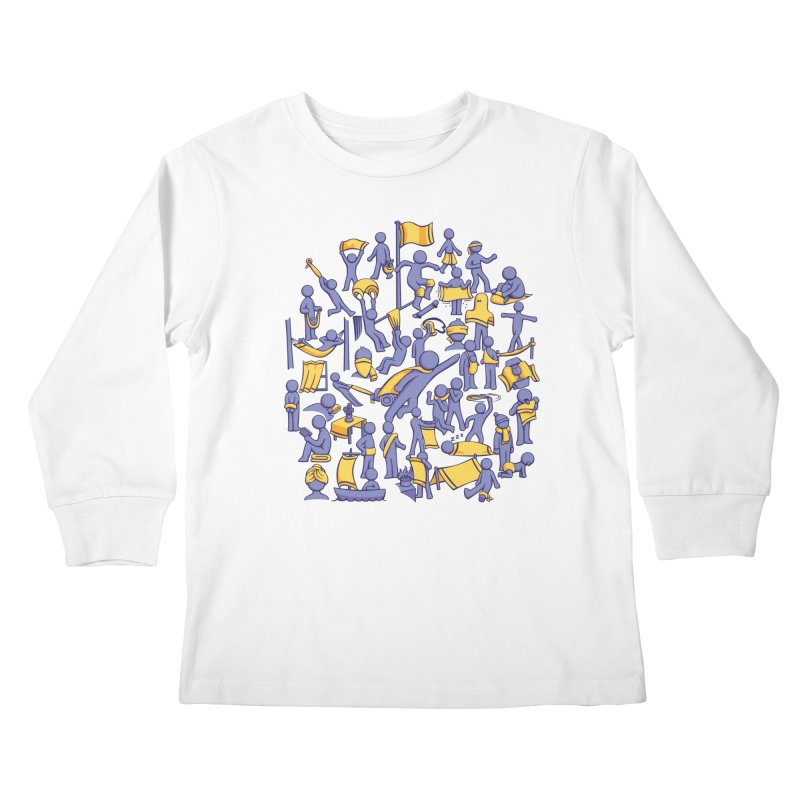 42 Uses for Towels Kids Longsleeve T-Shirt by doodledojo's Artist Shop