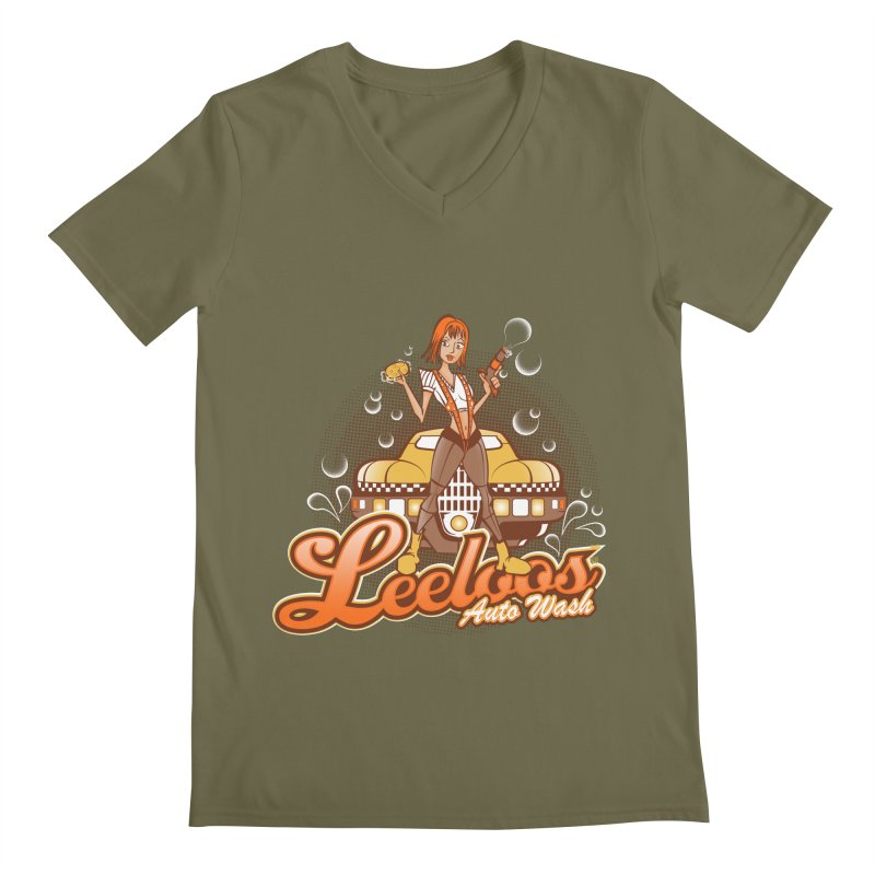 LeeLoo's Autowash Men's Regular V-Neck by doodleheaddee's Artist Shop