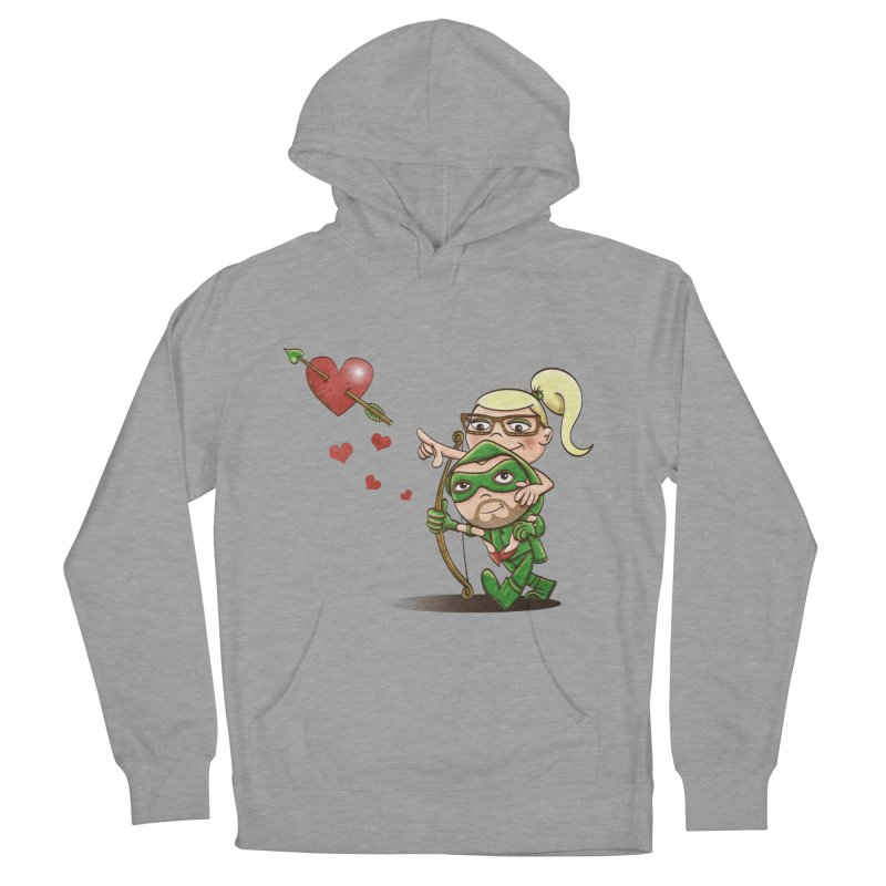 Shot through the Heart Women's French Terry Pullover Hoody by doodleheaddee's Artist Shop