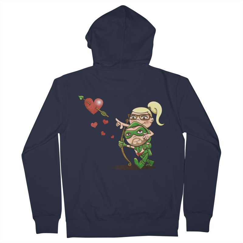 Shot through the Heart Women's French Terry Zip-Up Hoody by doodleheaddee's Artist Shop
