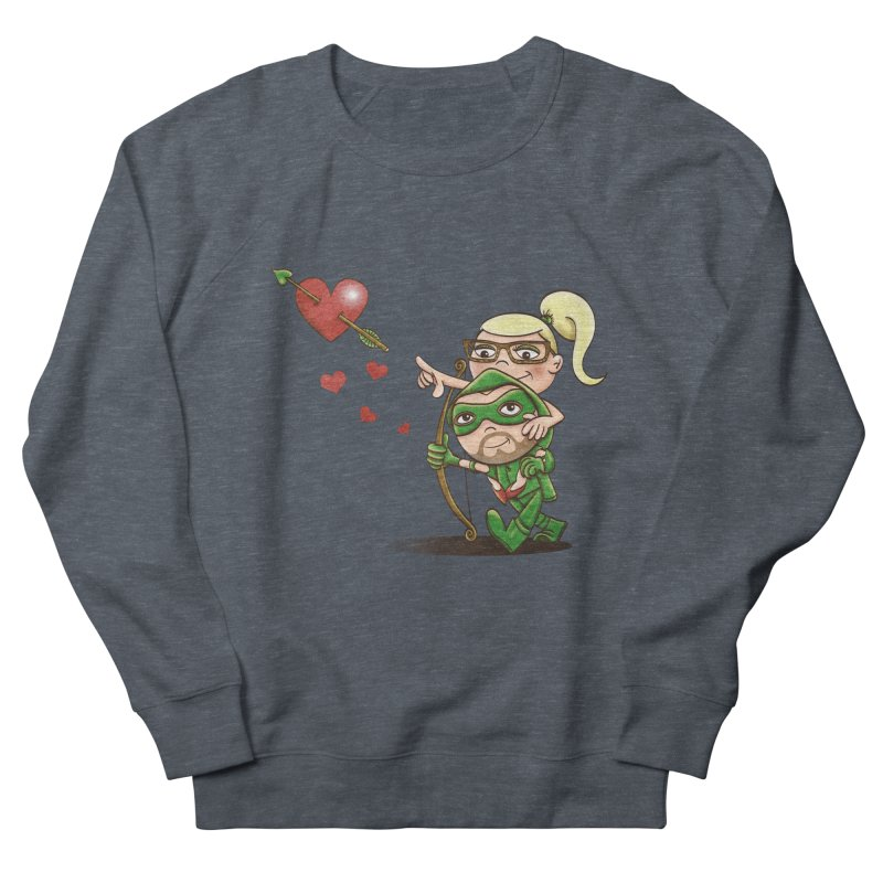 Shot through the Heart Men's French Terry Sweatshirt by doodleheaddee's Artist Shop