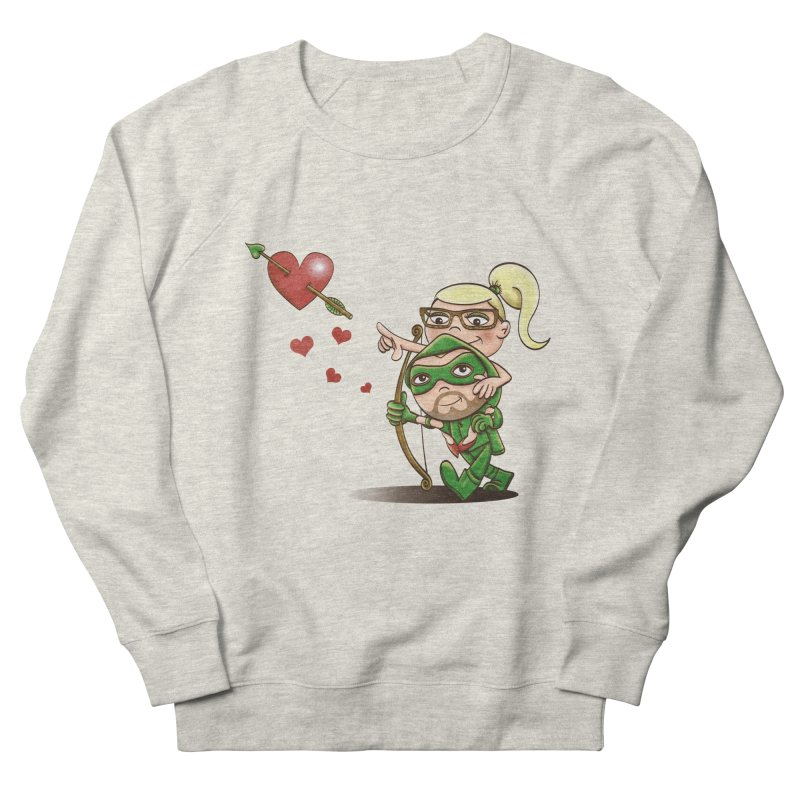 Shot through the Heart Men's French Terry Sweatshirt by doodleheaddee's Artist Shop