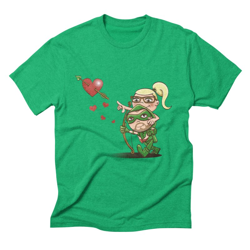 Shot through the Heart Men's Triblend T-Shirt by doodleheaddee's Artist Shop