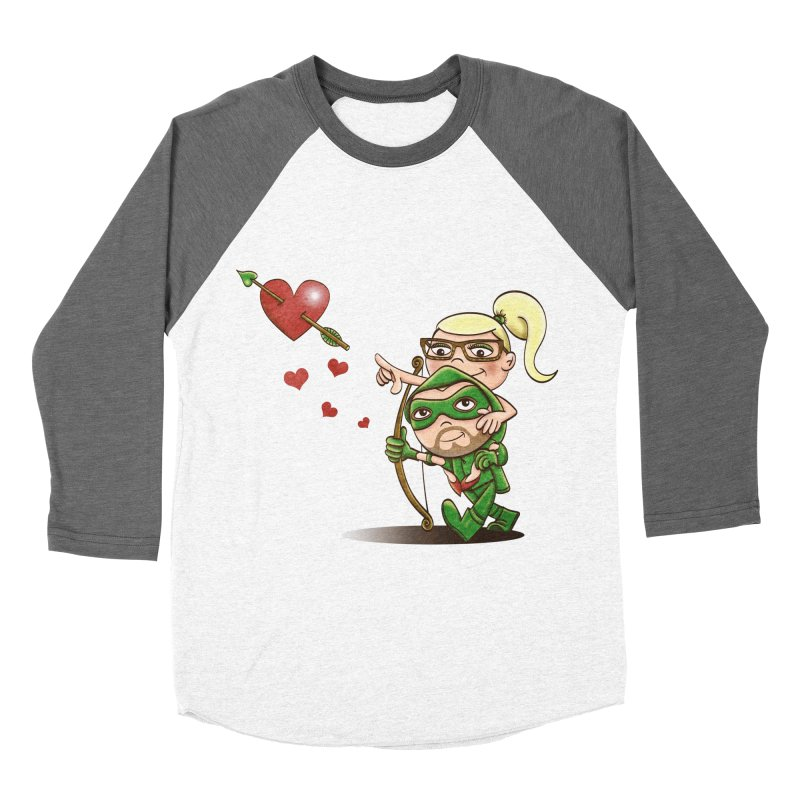 Shot through the Heart Women's Baseball Triblend T-Shirt by doodleheaddee's Artist Shop