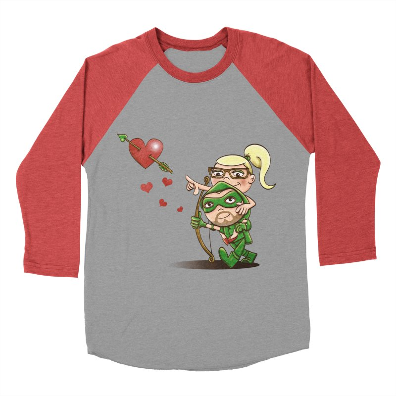 Shot through the Heart Men's Baseball Triblend T-Shirt by doodleheaddee's Artist Shop