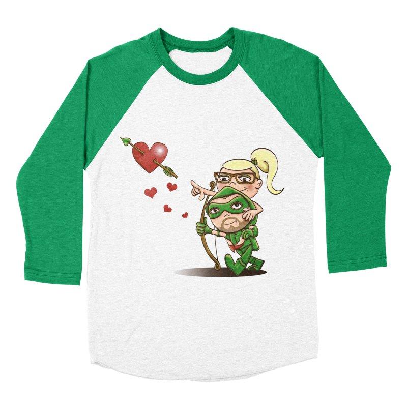 Shot through the Heart Men's Baseball Triblend Longsleeve T-Shirt by doodleheaddee's Artist Shop