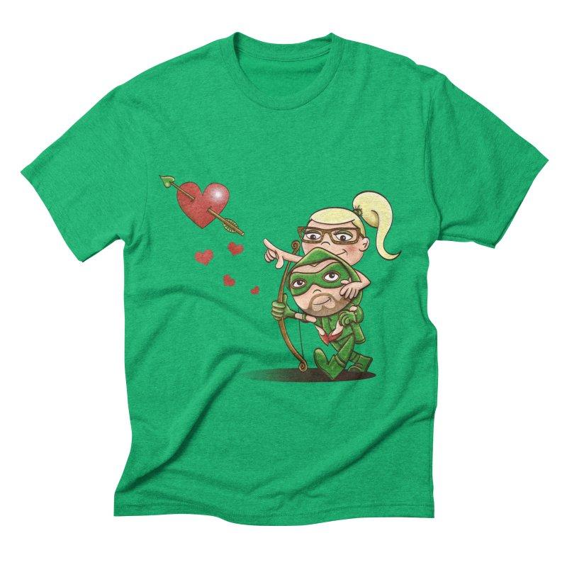 Shot through the Heart Men's Triblend T-shirt by doodleheaddee's Artist Shop