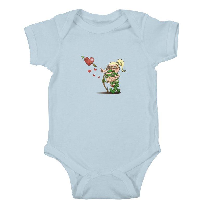 Shot through the Heart Kids Baby Bodysuit by doodleheaddee's Artist Shop