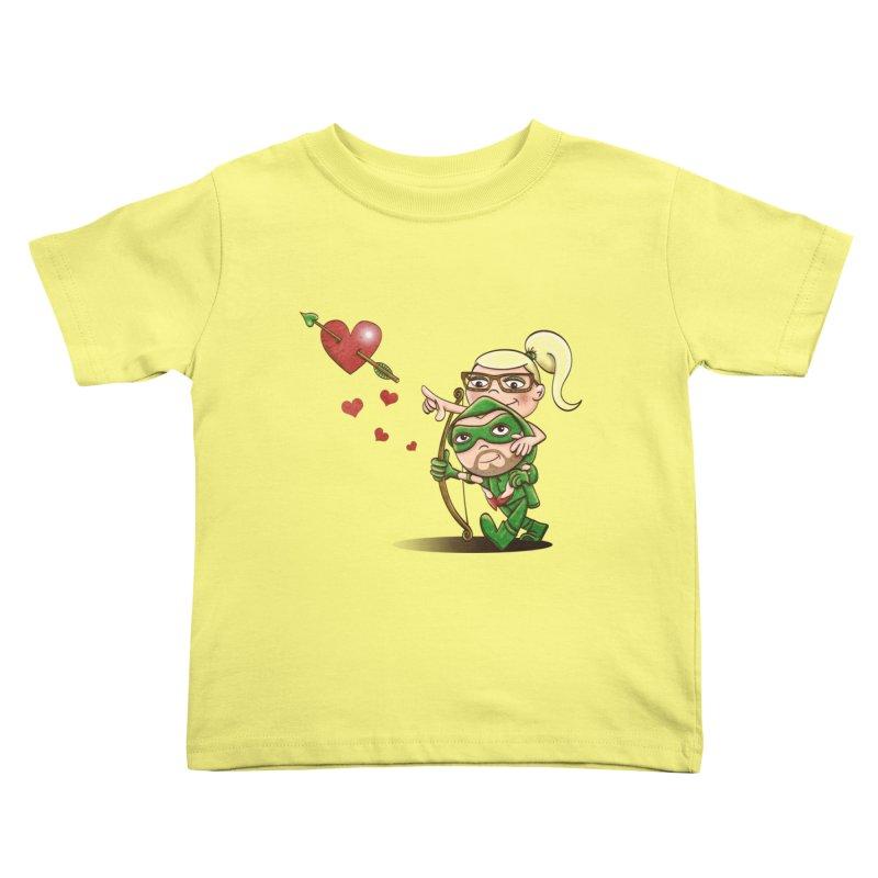 Shot through the Heart Kids Toddler T-Shirt by doodleheaddee's Artist Shop