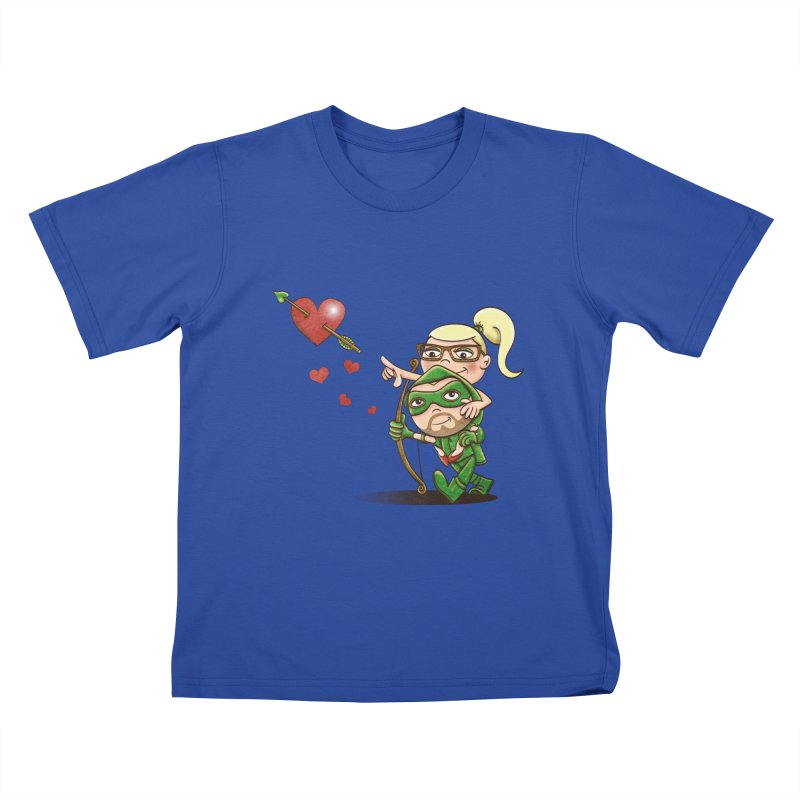 Shot through the Heart Kids T-shirt by doodleheaddee's Artist Shop