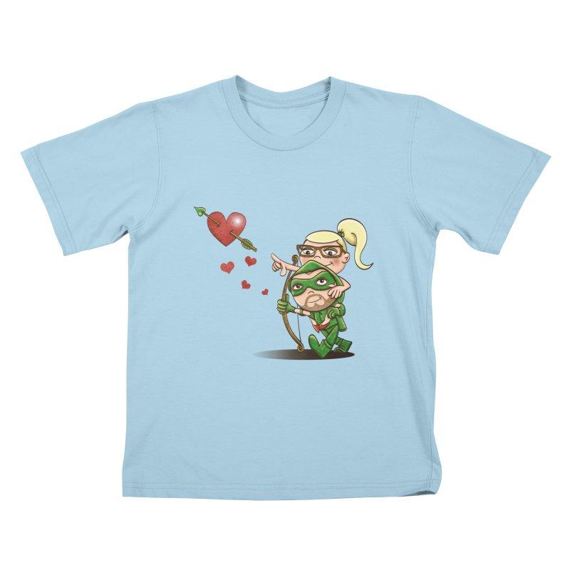 Shot through the Heart Kids T-Shirt by doodleheaddee's Artist Shop