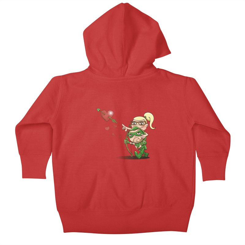 Shot through the Heart Kids Baby Zip-Up Hoody by doodleheaddee's Artist Shop
