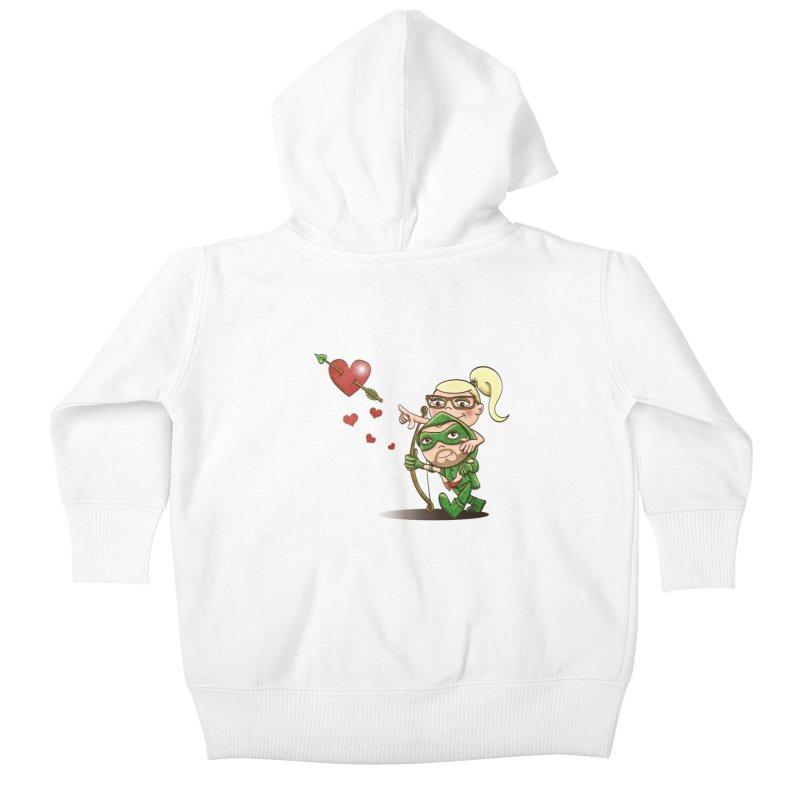 Shot through the Heart Kids Baby Zip-Up Hoody by doodleheaddee's Artist Shop