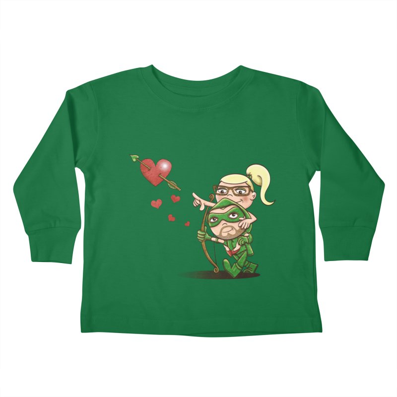 Shot through the Heart Kids Toddler Longsleeve T-Shirt by doodleheaddee's Artist Shop