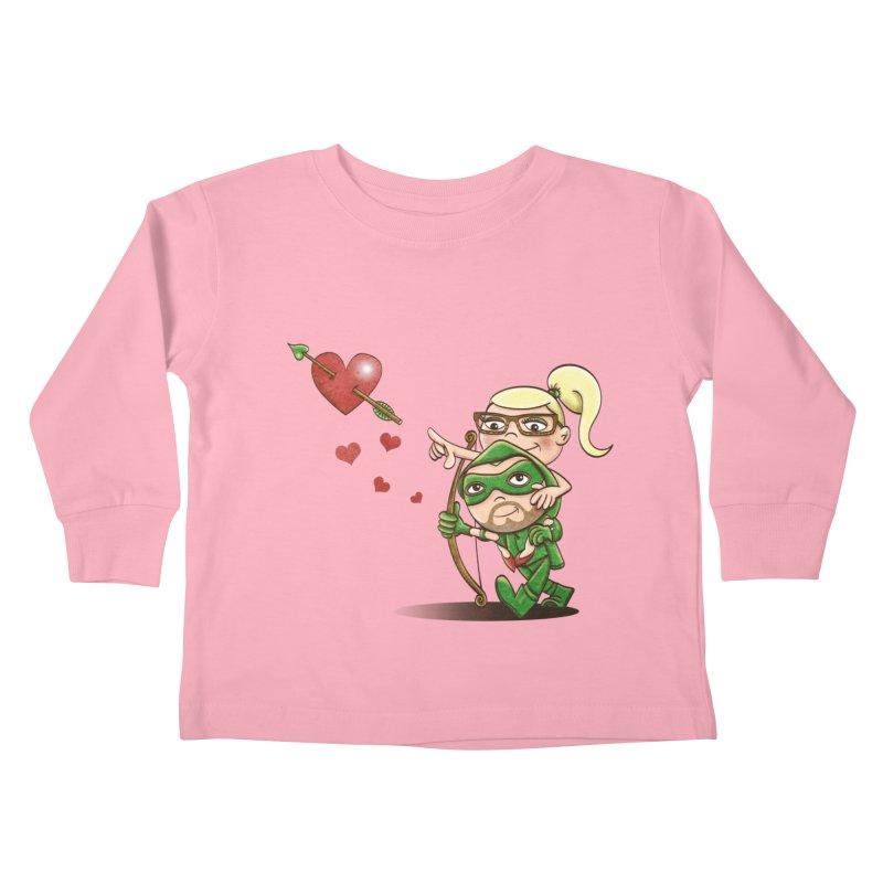 Shot through the Heart Kids Toddler Longsleeve T-Shirt by doodleheaddee's Artist Shop