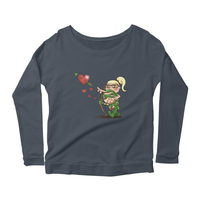 Shot through the Heart Women's Scoop Neck Longsleeve T-Shirt by doodleheaddee's Artist Shop