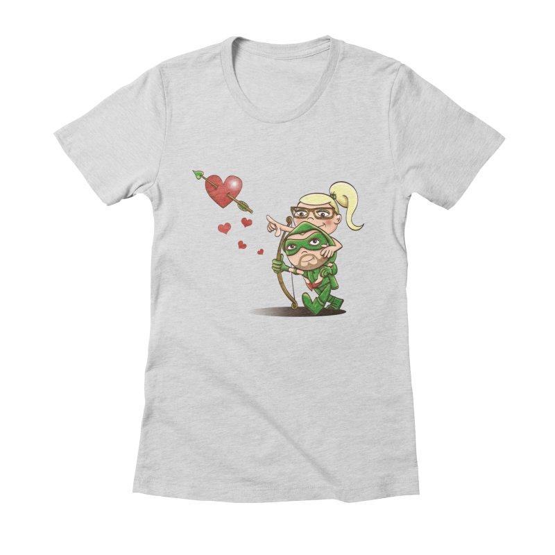 Shot through the Heart Women's Fitted T-Shirt by doodleheaddee's Artist Shop