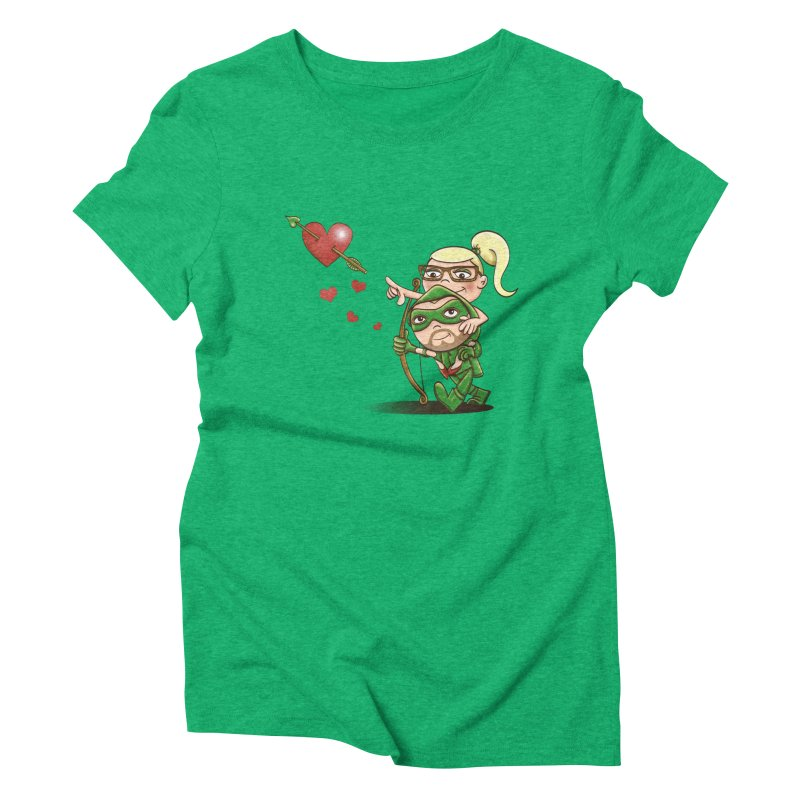 Shot through the Heart Women's Triblend T-shirt by doodleheaddee's Artist Shop