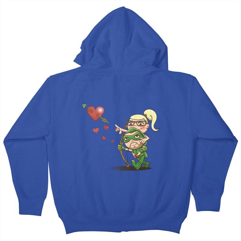 Shot through the Heart Kids Zip-Up Hoody by doodleheaddee's Artist Shop