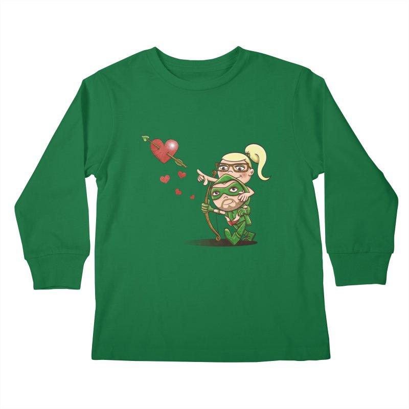 Shot through the Heart Kids Longsleeve T-Shirt by doodleheaddee's Artist Shop