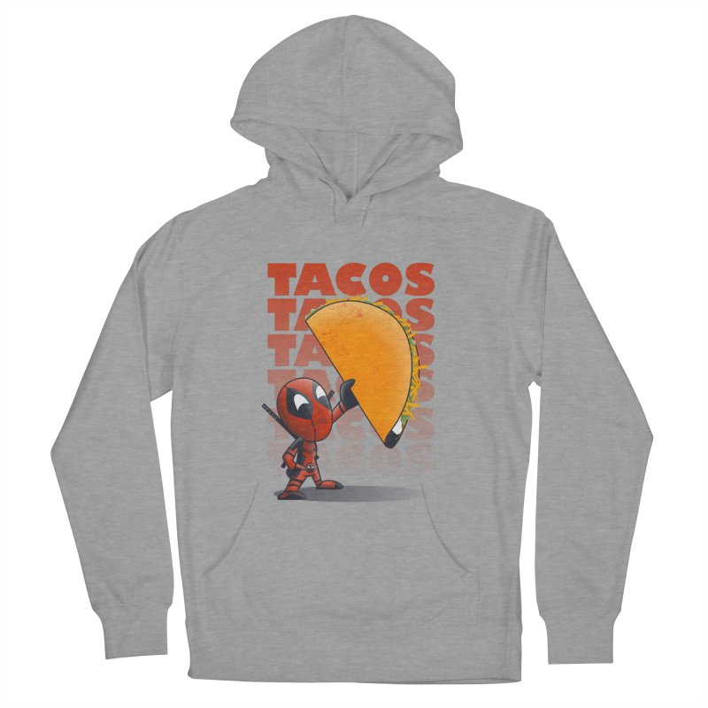 Tacos!!! Women's French Terry Pullover Hoody by doodleheaddee's Artist Shop