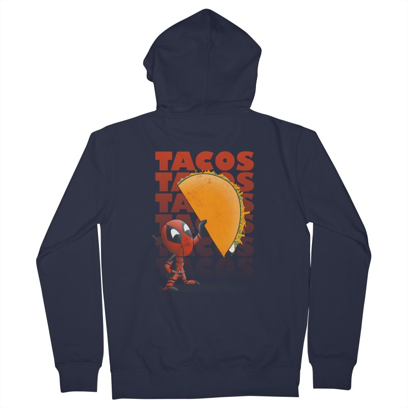 Tacos!!! Women's French Terry Zip-Up Hoody by doodleheaddee's Artist Shop