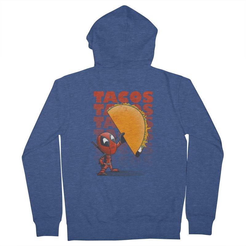 Tacos!!! Men's Zip-Up Hoody by doodleheaddee's Artist Shop