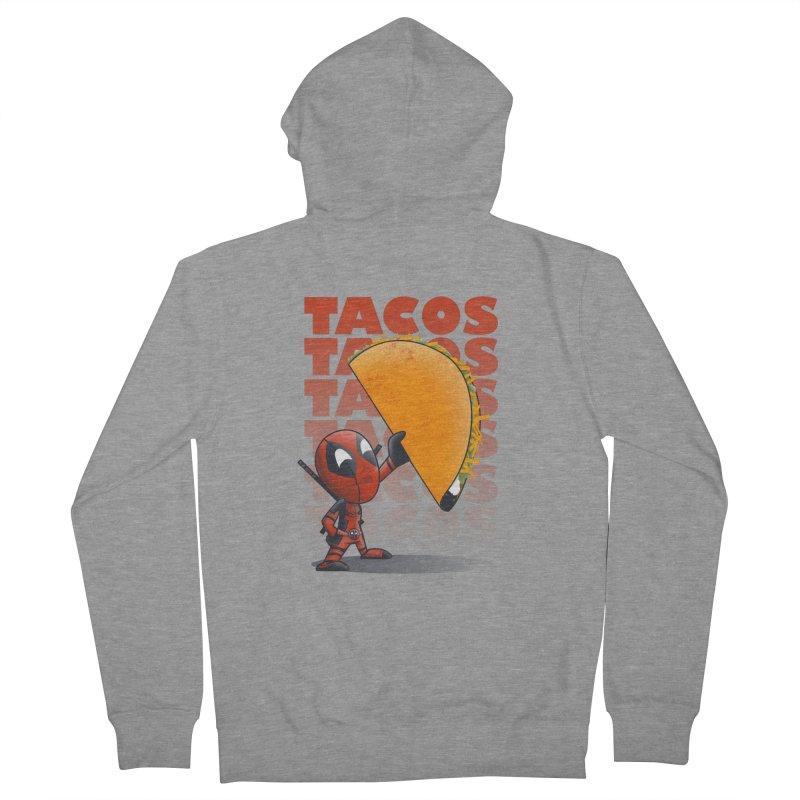 Tacos!!! Men's French Terry Zip-Up Hoody by doodleheaddee's Artist Shop