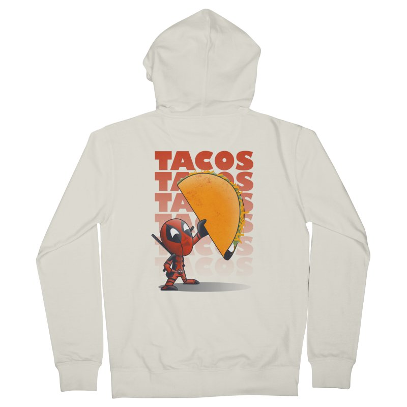 Tacos!!! Men's French Terry Zip-Up Hoody by doodleheaddee's Artist Shop