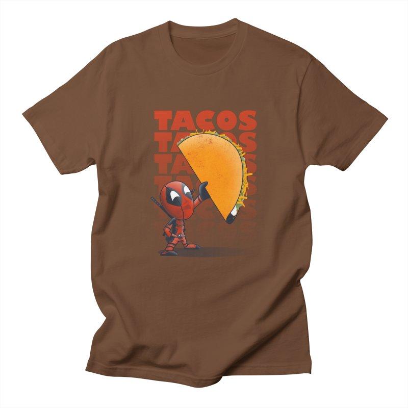 Tacos!!! Men's T-shirt by doodleheaddee's Artist Shop