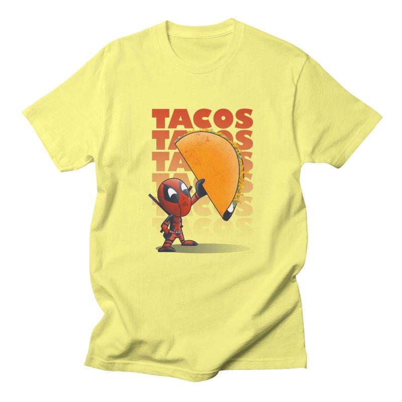 Tacos!!! Men's Regular T-Shirt by doodleheaddee's Artist Shop
