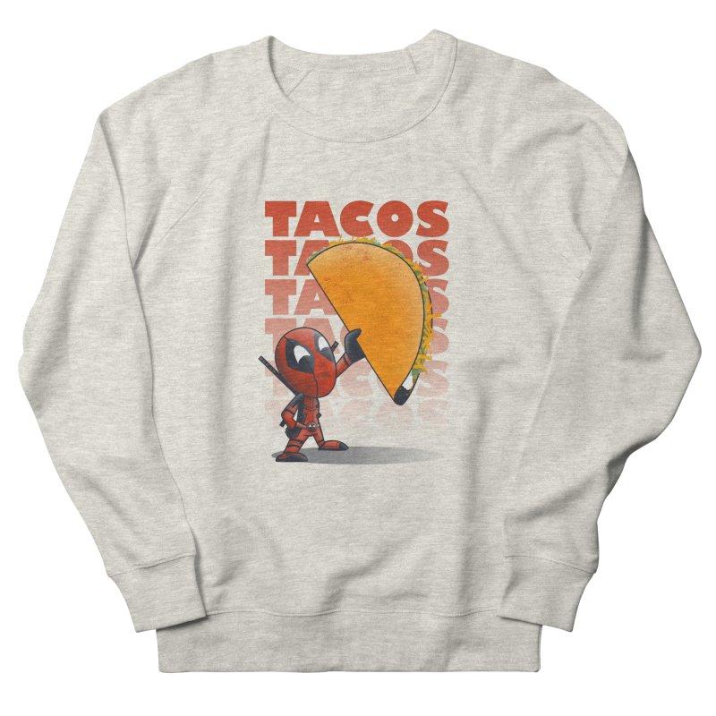 Tacos!!! Men's French Terry Sweatshirt by doodleheaddee's Artist Shop