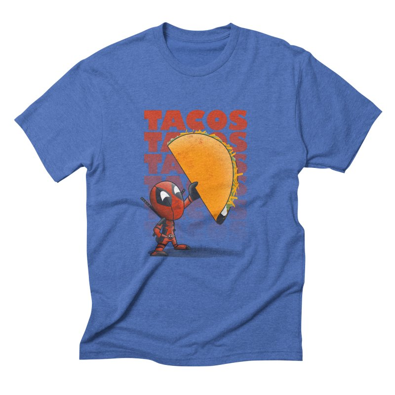 Tacos!!! Men's Triblend T-shirt by doodleheaddee's Artist Shop