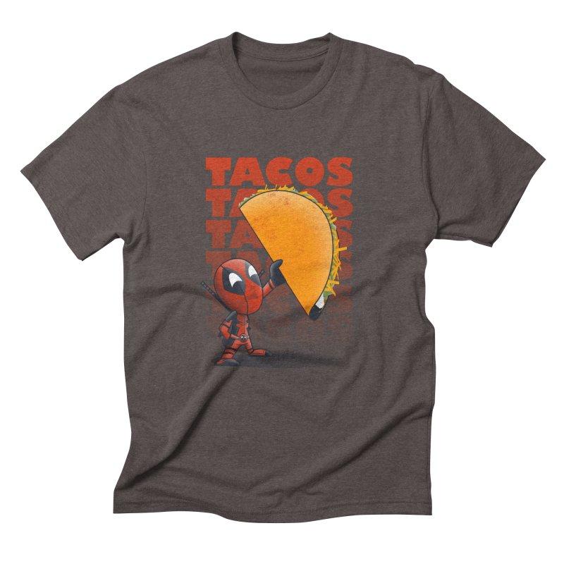 Tacos!!! Men's Triblend T-Shirt by doodleheaddee's Artist Shop