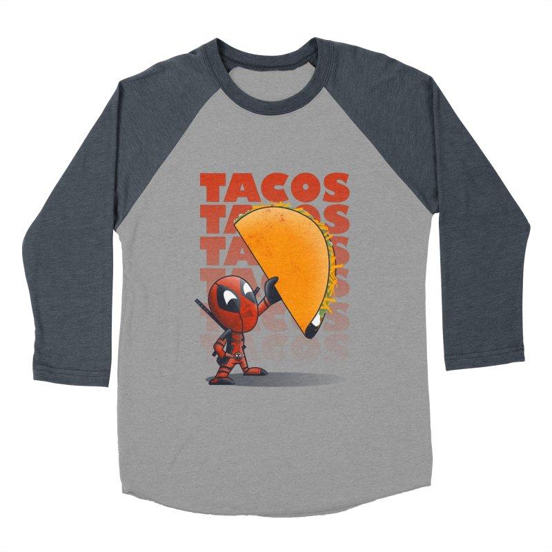 Tacos!!! Women's Longsleeve T-Shirt by doodleheaddee's Artist Shop