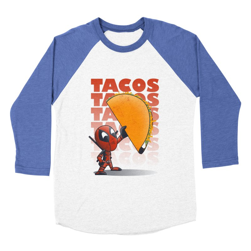 Tacos!!! Men's Baseball Triblend T-Shirt by doodleheaddee's Artist Shop