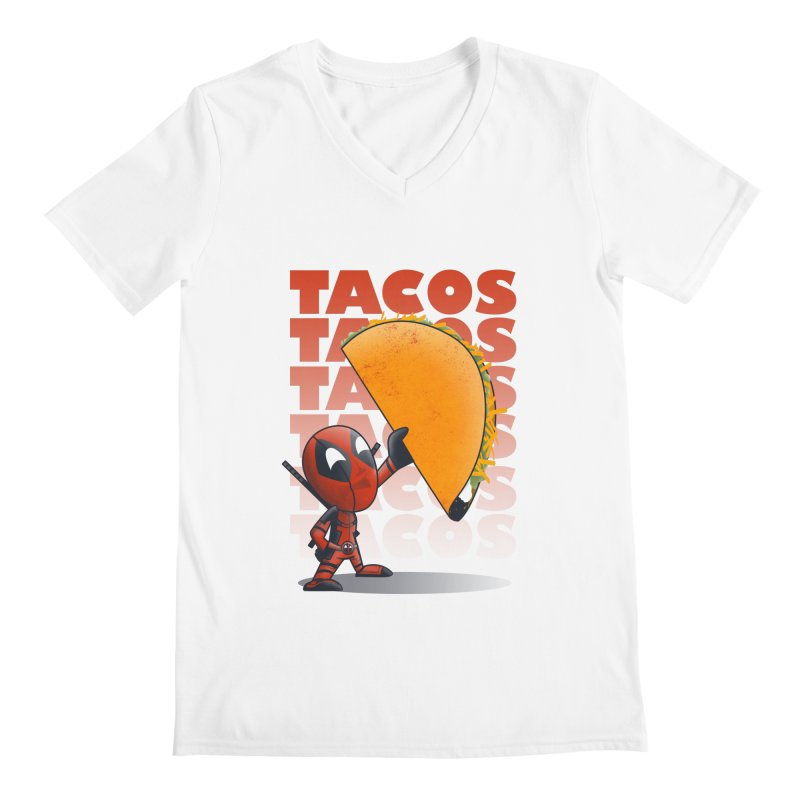 Tacos!!! Men's Regular V-Neck by doodleheaddee's Artist Shop