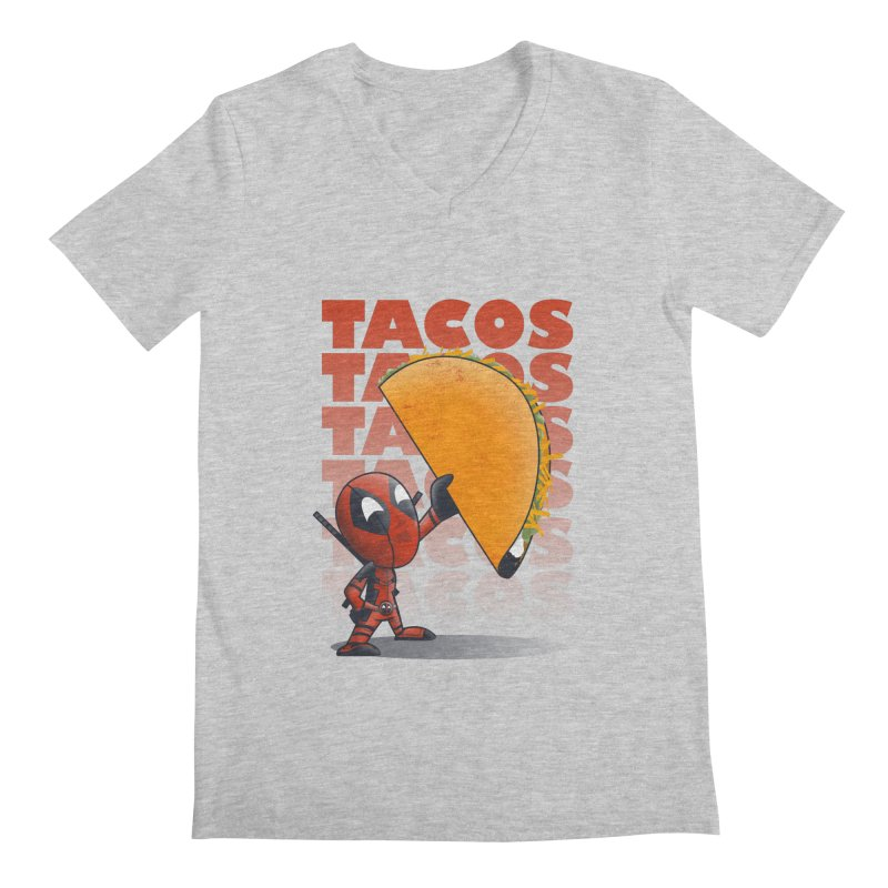 Tacos!!! Men's V-Neck by doodleheaddee's Artist Shop