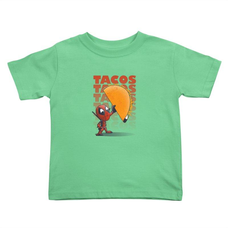 Tacos!!! Kids Toddler T-Shirt by doodleheaddee's Artist Shop