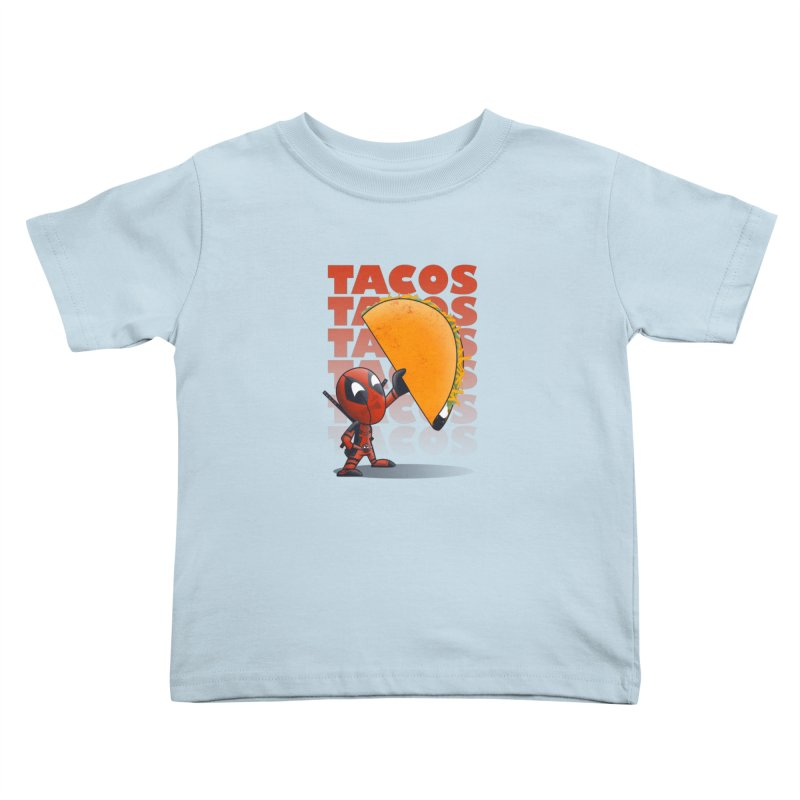 Tacos!!! Kids Toddler T-Shirt by doodleheaddee's Artist Shop