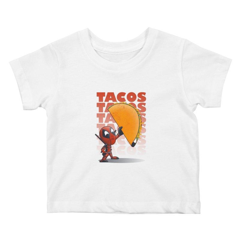Tacos!!! Kids Baby T-Shirt by doodleheaddee's Artist Shop