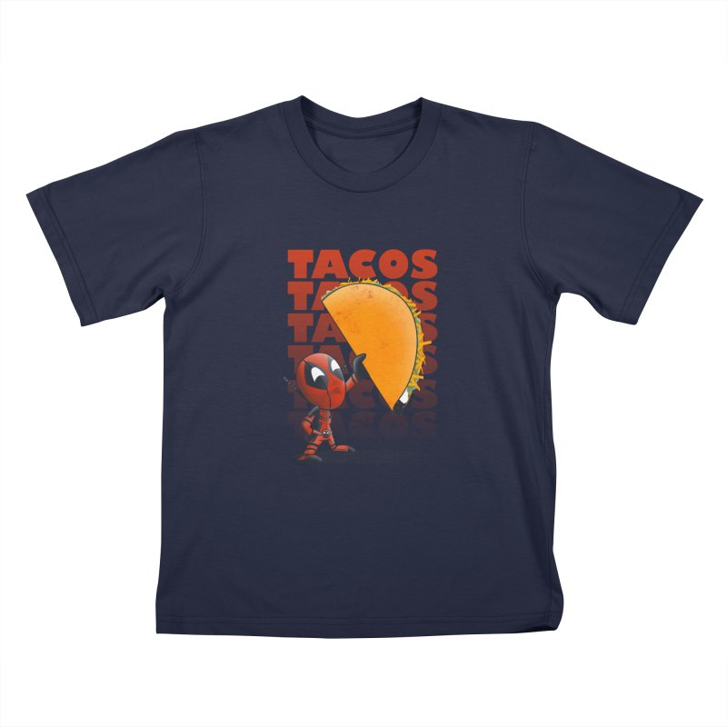 Tacos!!! Kids T-Shirt by doodleheaddee's Artist Shop