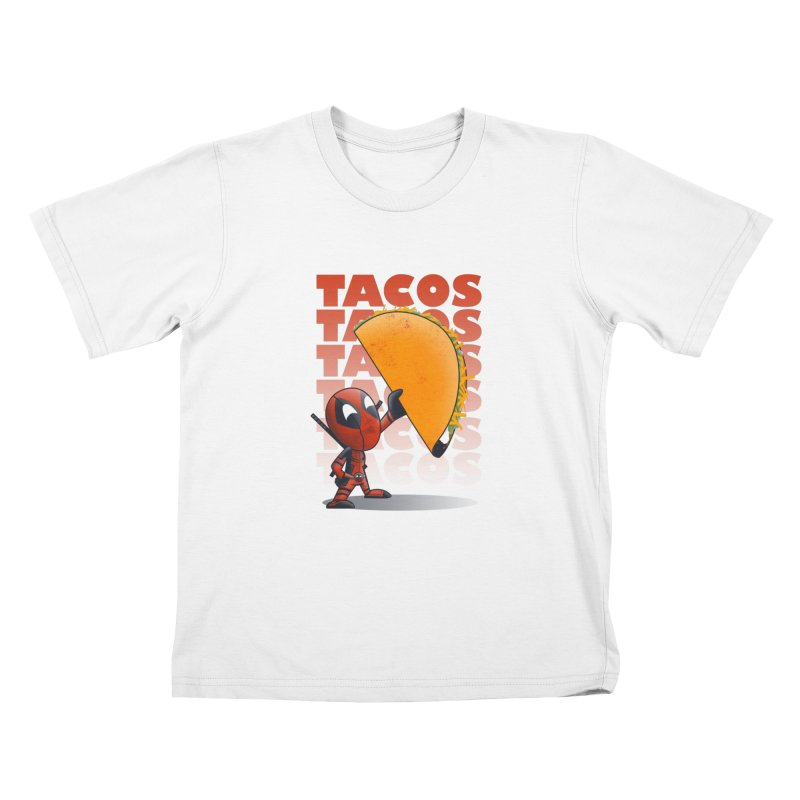 Tacos!!! Kids T-Shirt by doodleheaddee's Artist Shop