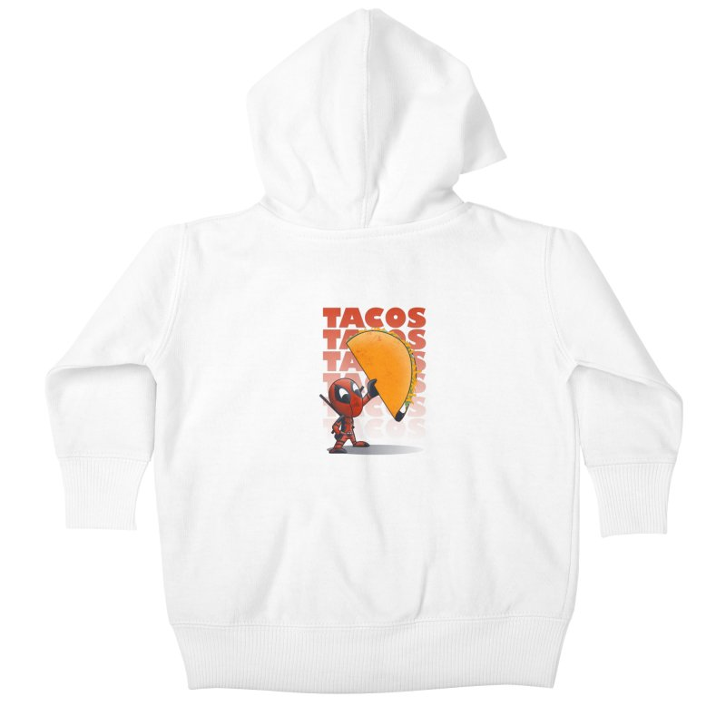 Tacos!!! Kids Baby Zip-Up Hoody by doodleheaddee's Artist Shop