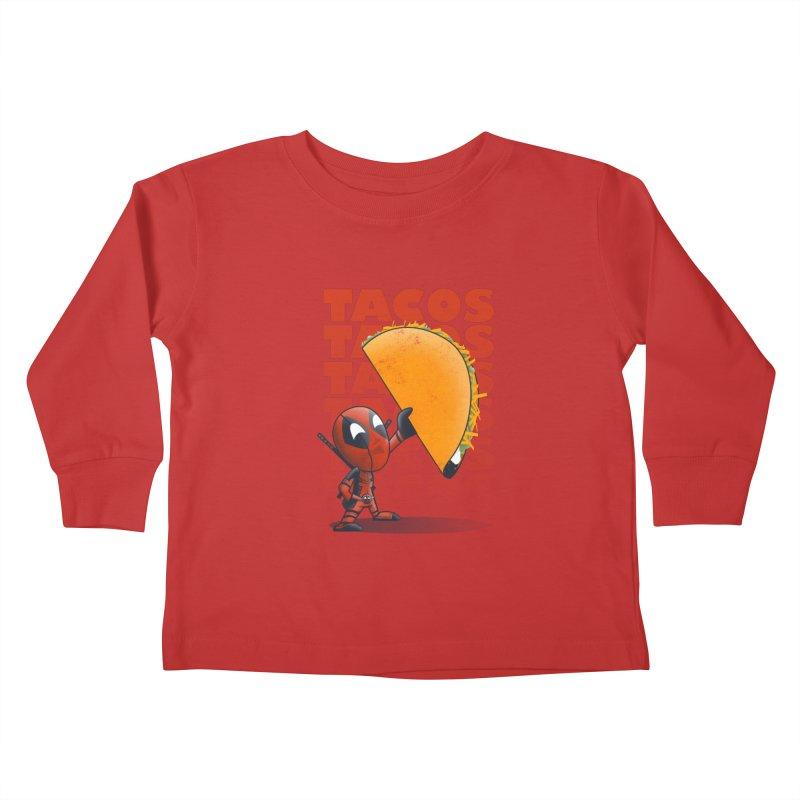 Tacos!!! Kids Toddler Longsleeve T-Shirt by doodleheaddee's Artist Shop