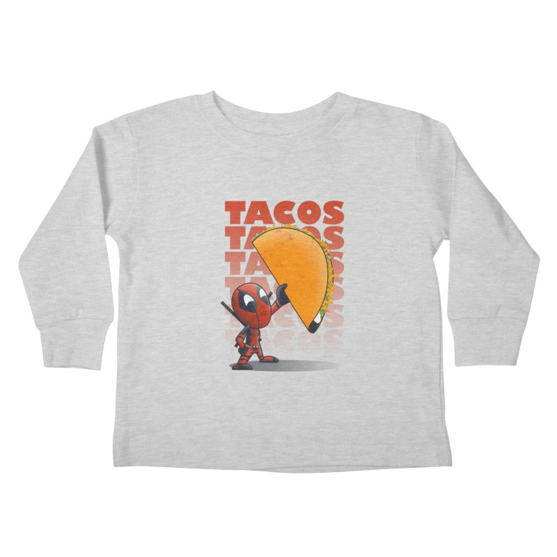 Tacos!!! Kids Toddler Longsleeve T-Shirt by doodleheaddee's Artist Shop