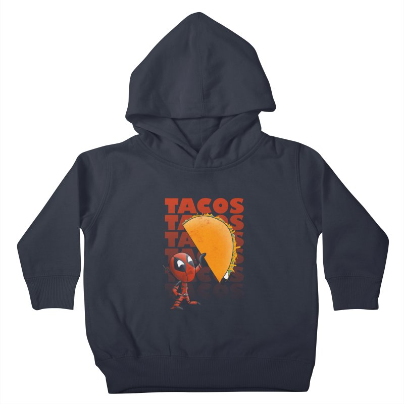 Tacos!!! Kids Toddler Pullover Hoody by doodleheaddee's Artist Shop